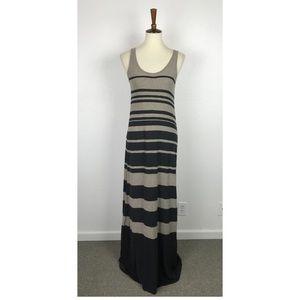 Vince Striped Knit Tank Maxi Dress